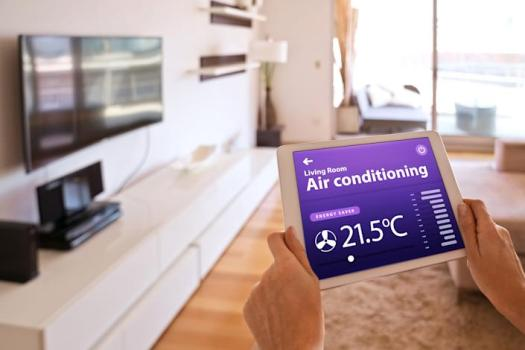 """<a href=""""https://amzn.to/3iAzKK7"""" rel=""""nofollow noopener"""" target=""""_blank"""" data-ylk=""""slk:The Sensibo Sky is a smart AC controller"""" class=""""link rapid-noclick-resp"""">The Sensibo Sky is a smart AC controller</a> that turns any air conditioner into a smart air conditioner. (Photo: izusek via Getty Images)"""