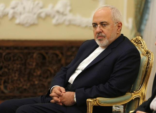 Iranian Foreign Minister Mohammad Javad Zarif listens during a meeting in Tehran on August 8, 2018