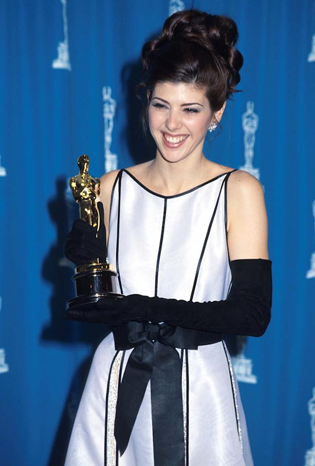 Marisa Tomei wins Best Supporting Actress for 'My Cousin Vinny' (1993)