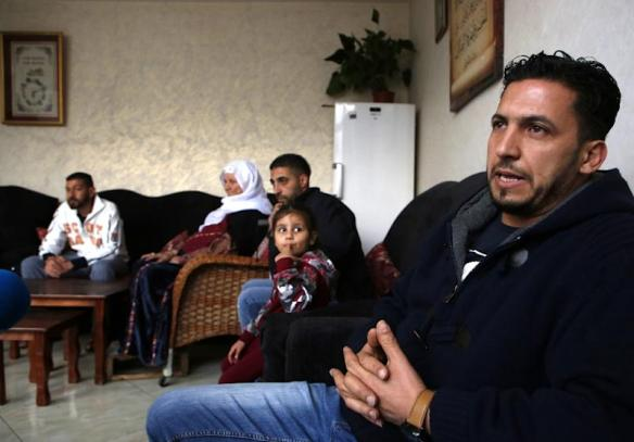 "Thaer Sharkawi is one of around five million Palestinian refugees spread across Lebanon, Jordan, Syria, Gaza and the West Bank, and like many he has never visited the place he calls ""home"" (AFP Photo/ABBAS MOMANI)"
