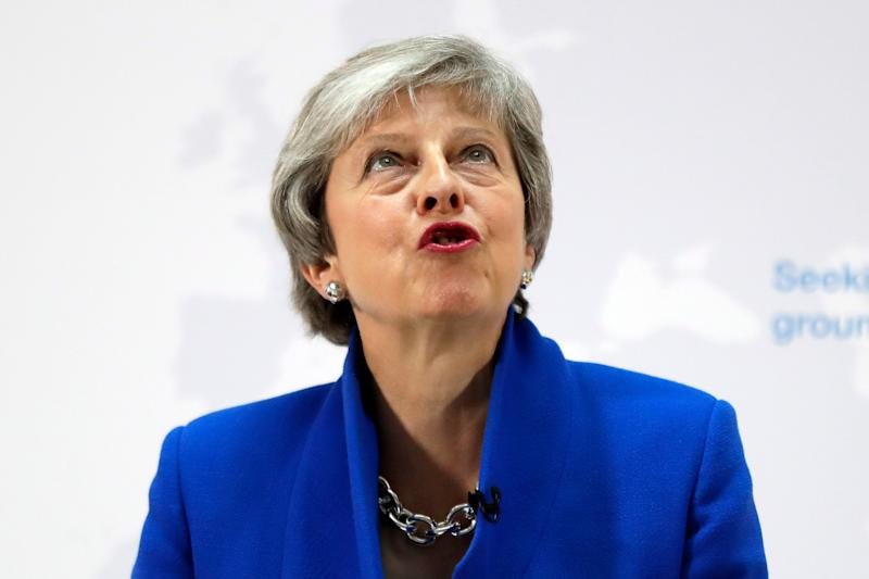 Britain's Prime Minister Theresa May delivers a speech in London, Tuesday, May 21, 2019. The British government is discussing how to tweak its proposed European Union divorce terms in a last-ditch attempt to get Parliament's backing for Prime Minister Theresa May's deal with the bloc. (AP Photo/Kirsty Wigglesworth, pool)