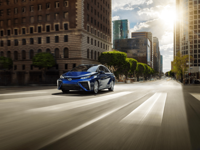 Toyota Mirai - the company's best-known hydrogen fuel cell vehicle