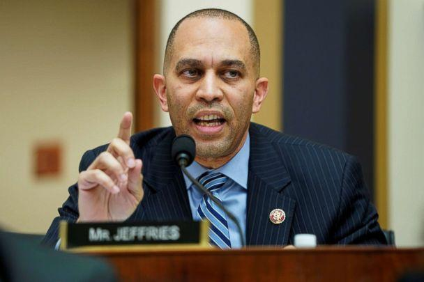 PHOTO: Rep. Hakeem Jeffries questions acting U.S. Attorney General Matthew Whitaker as he testifies to the House Judiciary Committee on oversight of the Justice Department on Capitol Hill in Washington, Feb. 8, 2019. (Joshua Roberts/Reuters)