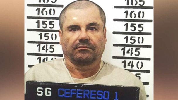 PHOTO: Mexico's most wanted drug lord, Joaquin 'El Chapo' Guzman, stands for his prison mug shot at the Altiplano maximum security federal prison in Almoloya, Mexico, Jan. 8, 2016. (Mexico's federal government/AP)