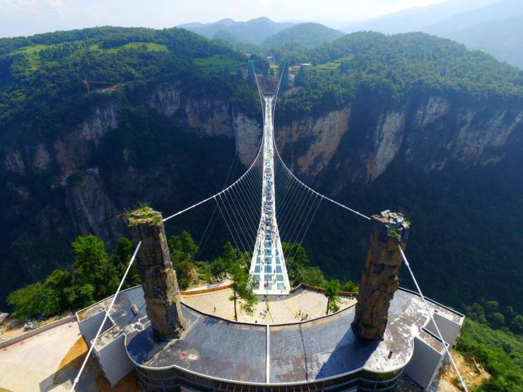 <p>The bridge connects two mountain cliffs in which are known as the 'Avatar mountains'. (Getty Images)<br /></p>