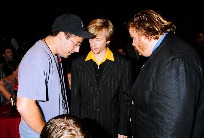 Adam Sandler, David Spade, and Chris Farley