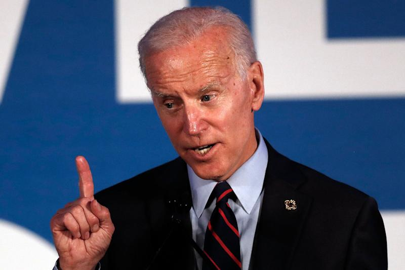 Former Vice President Joe Biden speaks during a fundraiser in Atlanta on Thursday. (AP Photo/John Bazemore)