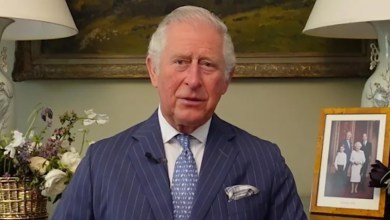 Prince Charles raises eyebrows with family photo