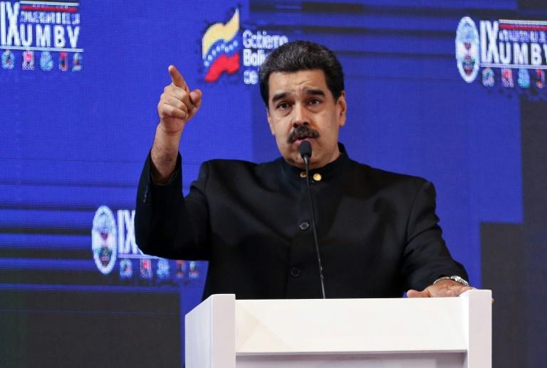 US officials believe Venezuelan President Nicolas Maduro, seen here speaking at the Bolivarian Military University of Venezuela, may present a petition against President Donald Trump if he travels to the United Nations