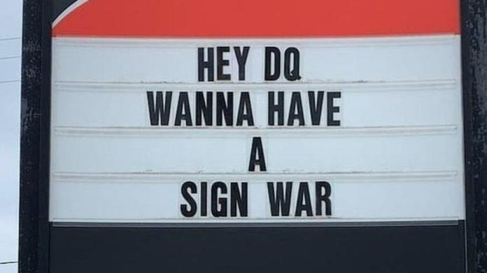 Canadian sign war captivates the internet