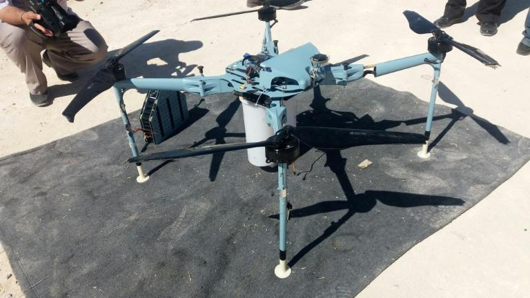 Syria's state news agency SANA publishes what it says is a drone shot down in the Quneitra countryside, southwest of the capital Damascus