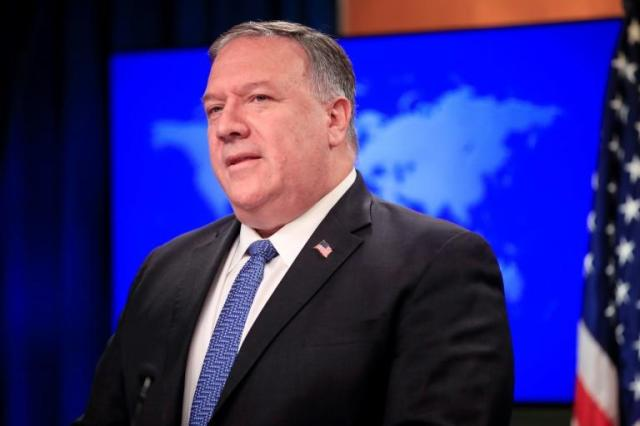 US Secretary of State Mike Pompeo tells a news conference that the United States will submit a UN resolution to extend an arms embargo on Iran
