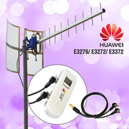 Antena modem untuk Huawei E3276 Yagi Grid TXR185 + Pigtail Dual