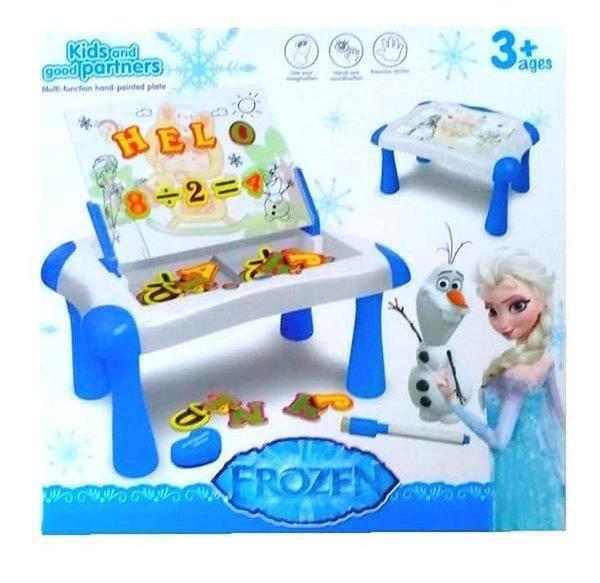 Mainan Edukasi Meja Belajar Magnetic Learning Sketchpad Frozen