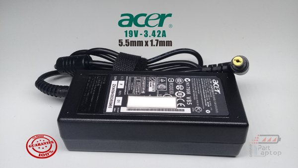 Adaptor Charger Laptop ACER 19V 3.42A ORIGINAL grs REPLACE