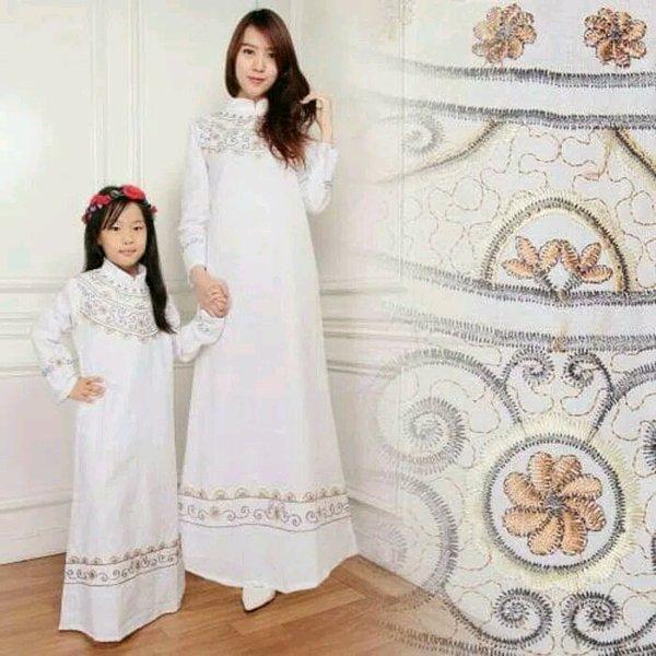baju muslim couple ibu dan anak gamis syari