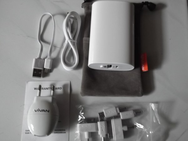 Power bank vivan U06 6600mah POWERBANK 6600 MAH