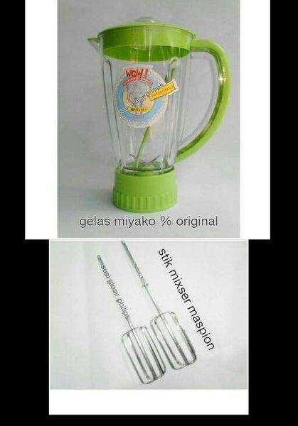 Blender & Juicer gelas miyako jumbo dan stik mixer maspion