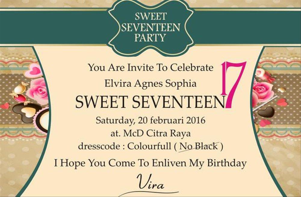 Jual Undangan Ultah Sweet Seventeen Di Lapak 171 Dewatawihrasto