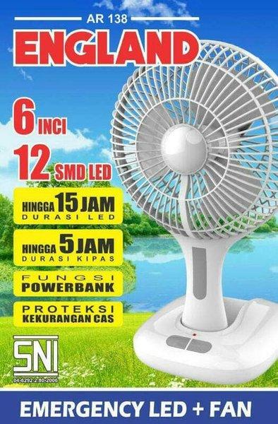 Arashi Emergency Fan   LampAR 138 6  England   kipas angin Termurah