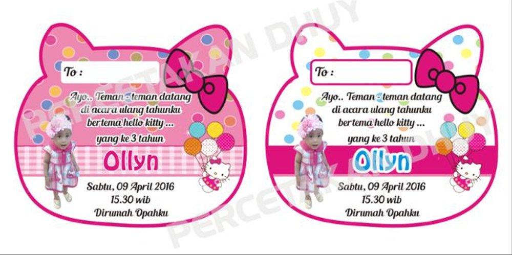 Jual Undangan Ultah Bentuk Hello Kitty Desain Terbaru Di Lapak