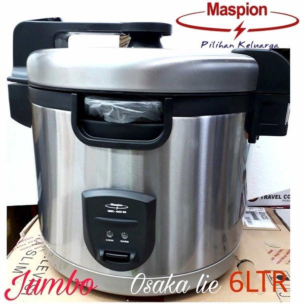 Rice Cooker RICE COOKER JUMBO MASPION MMC-5025BS 6 LTR MASAK DAN PENGHANGAT