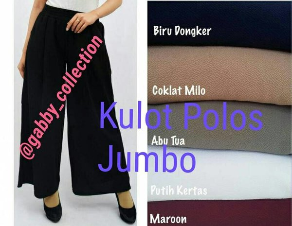 PROMO Celana Kulot Panjang Polos Ukuran Jumbo HIGH QUALITY