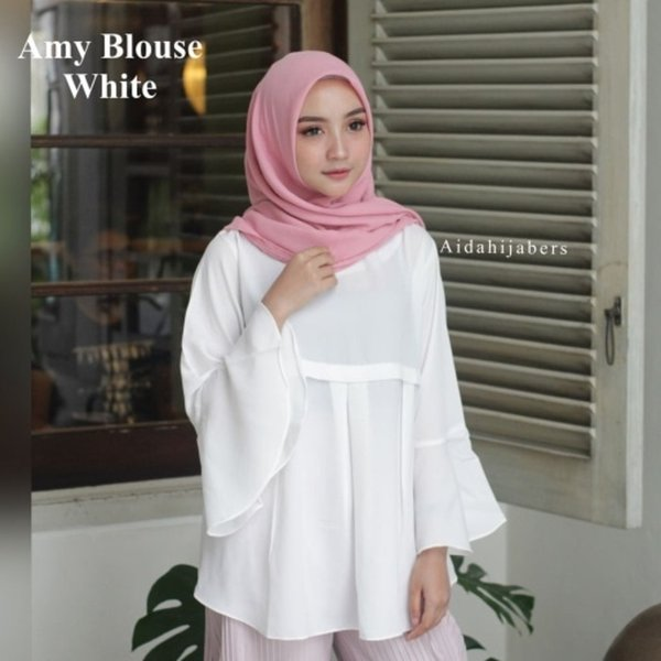 fashion terkini Amy blouse  fashion muslim atasan murah