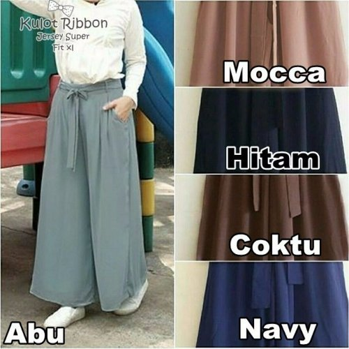 Calana Kulot Jersey Busana Muslim Busana Baju Atasan Baju Gamis Maxi Muslim Kerudung Hijab Jilbab Bergo Blouse