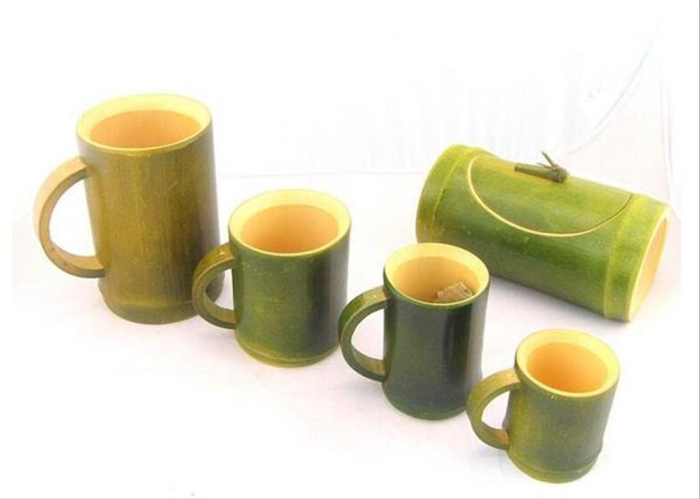 gelas kerajinan bambu