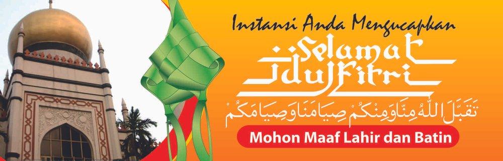Jual Spanduk Selamat Idul Fitri Mohon Maaf Lahir Dan Bathin 250 X