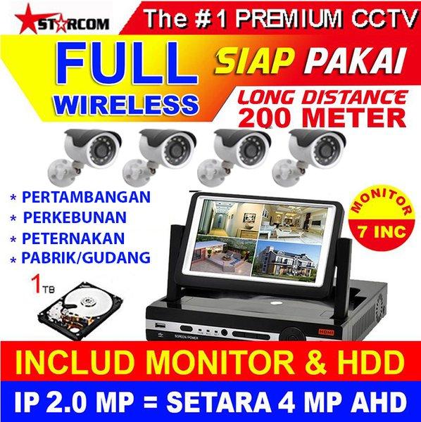 new PAKET CCTV 4 KAMERA STARCOM