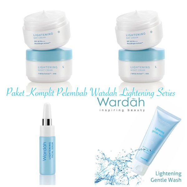 Paket Komplit Wardah Lightening Series Moisturizer