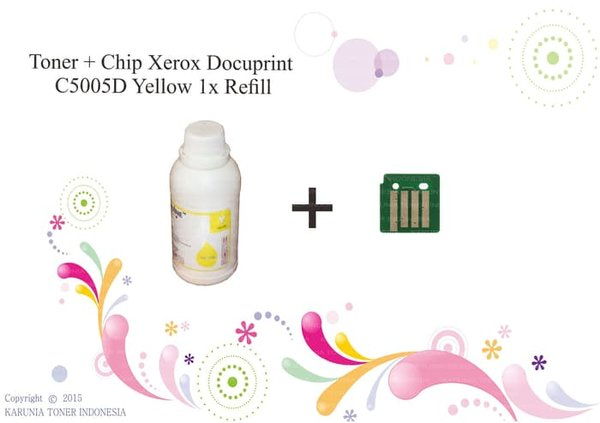 Printer Toner  Plus Chip Xerox Docuprint C5005D Yellow
