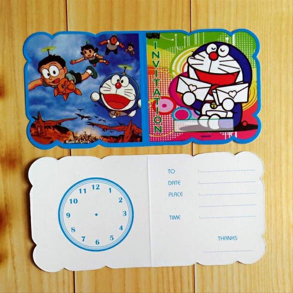Jual New Kartu Undangan Ultah Ulang Tahun Anak Cars Doraemon