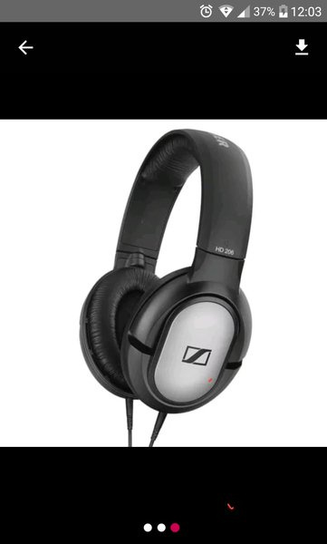 Earphone Headset Headphone Sennheiser HD 206