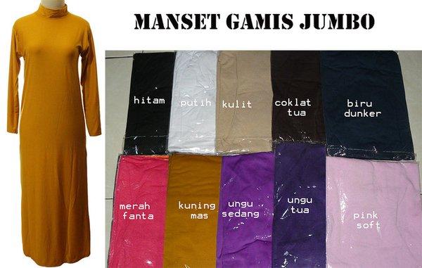Dijual Gamis Kaos   Baju Manset Gamis Kaos ukuran JUMBO Murah