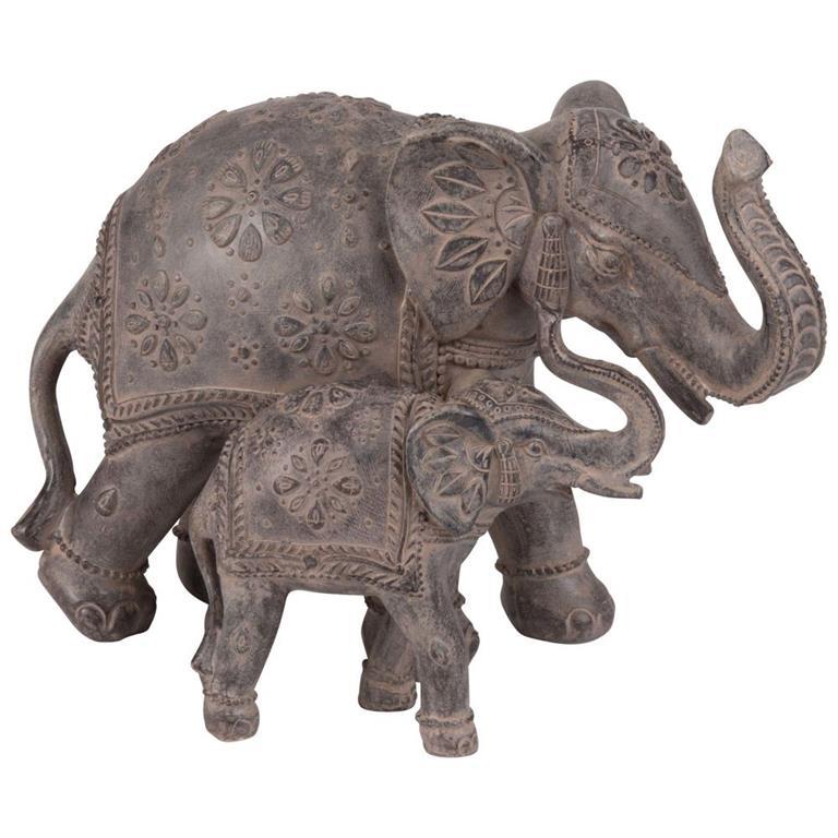 2 Statuettes Elephant H16 Maisons Du Monde Ref 184956