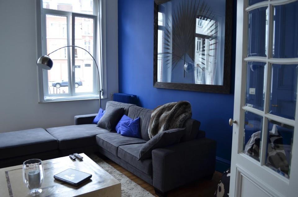 Charmant Beautiful Salon Bleu Marine Et Blanc Contemporary House Design