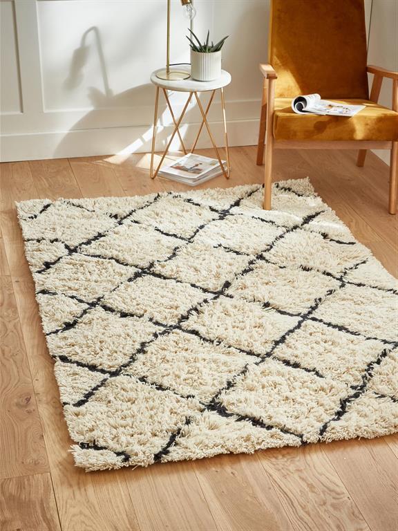 https www domozoom com photos tapis berbere en laine blanc bleu nuit cyrillus 357614
