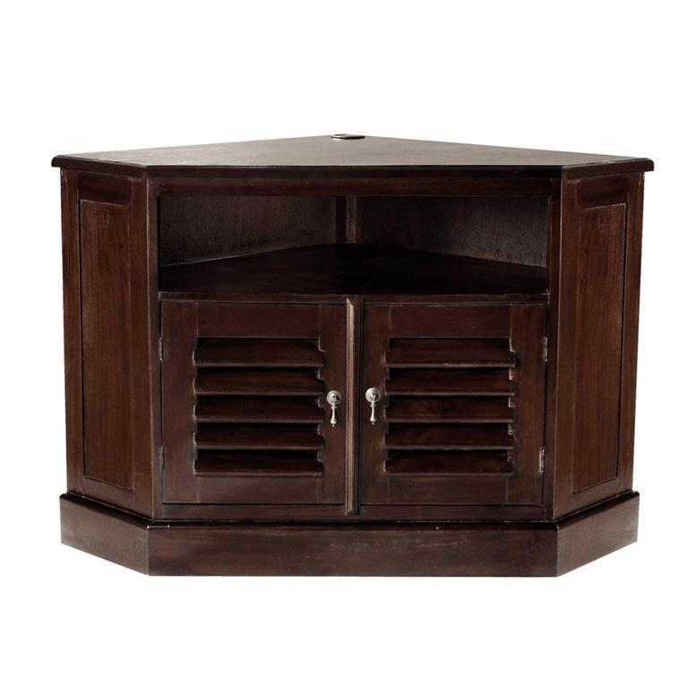 meuble tv d angle en mahogany massif l