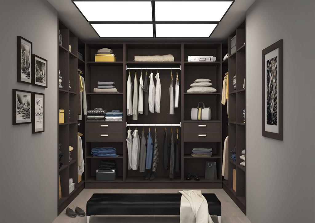 dressing room en u sur mesure