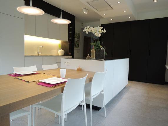 Faience Cuisine Design Cuisine Design Blanche Et Bois