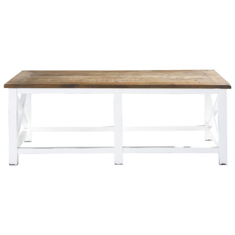 table basse en bois recycle l 120 cm