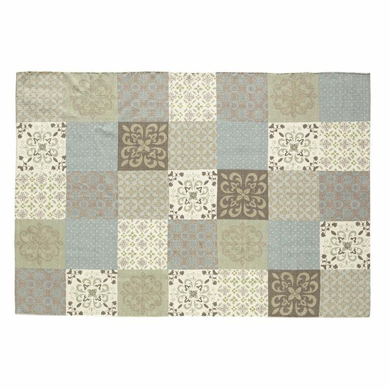 tapis motifs carreaux de ciment 140 x