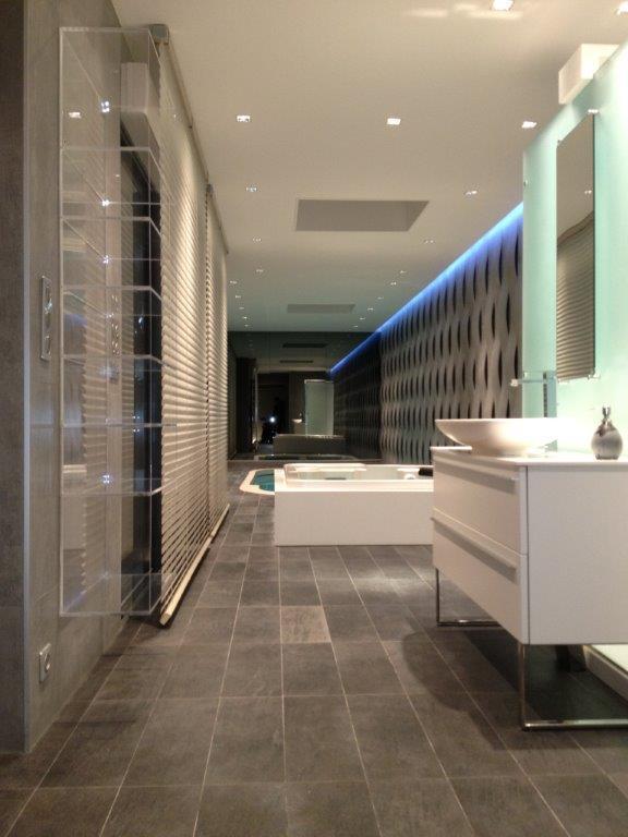 grande salle de bain moderne tout en