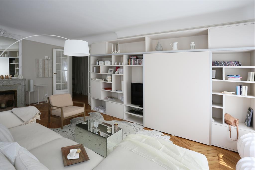 meuble tv sur mesure avec portes