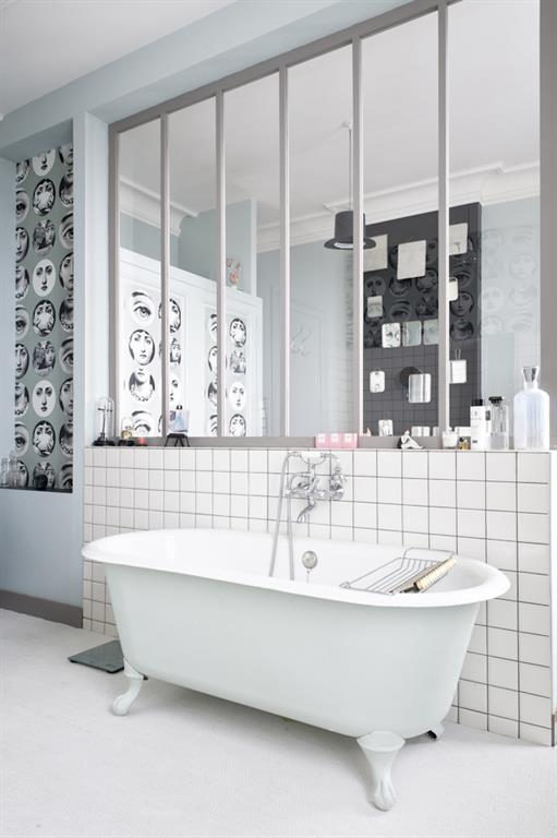 salle de bain retro moderne