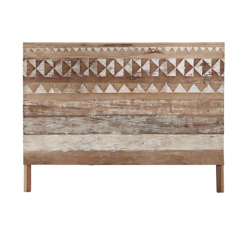 motifs en bois recycle l 160 cm tikka