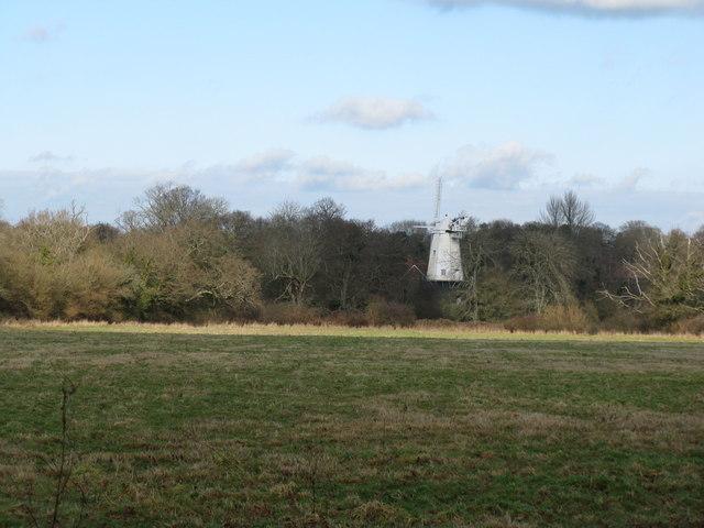 View across fields to Shipley Mill